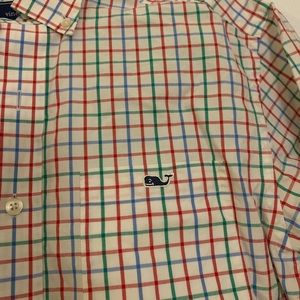 Vineyard Vines Blue, Green, and Red Button Down
